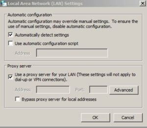 Proxy your socks off - configure Windows Lan Settings for Socks Proxy