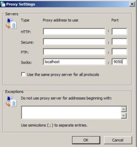 Proxy your socks off - configure Windows Advanced Proxy Settings for forwarded Socks Proxy